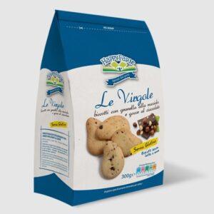 Virgole con granella di nocciola e gocce di cioccolato gluten free